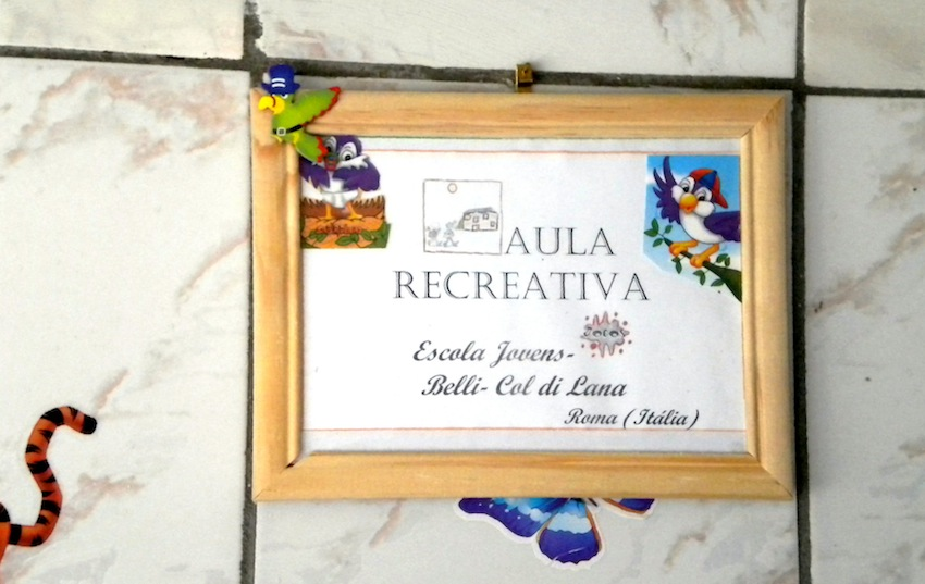 l'intestazione dell'Aula recreativa